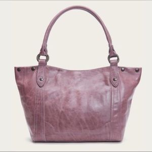 Frye Melissa Distressed Leather Shoulder Tote NWT